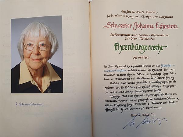 Schwester Johanna Eichmann OSU