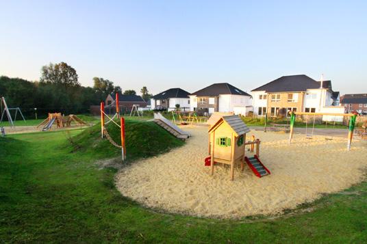 Das Bild zeigt den Spielplatz am Bloomshof