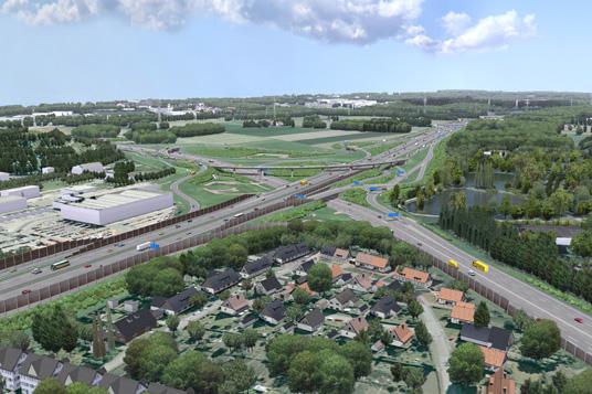 Das Bild zeigt das geplante Autobahnkreuz