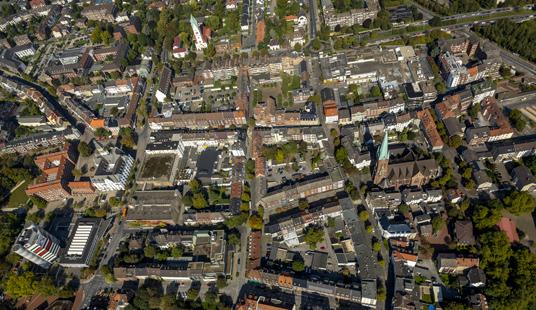 Das Bild zeigt die Innenstadt