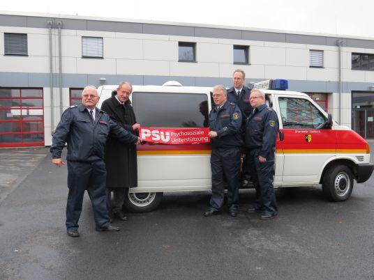 Das Bild zeigt das Team der Feuerwehr