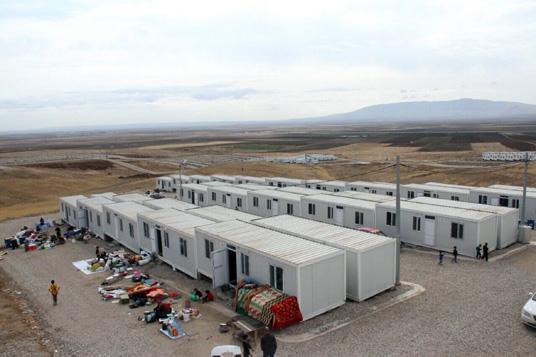 Das Bild zeigt das Flüchtlingsdorf