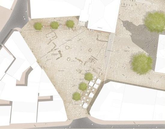 Entwurf des Platzes
