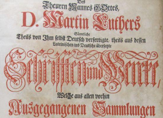 Deckblatt der Luther-Bibel aus dem Jahr 1729