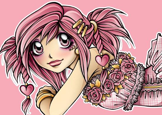 Manga - Zeichnung von Alexandra Völker
