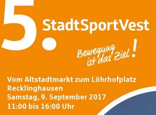 StadtSportVest-Plakat