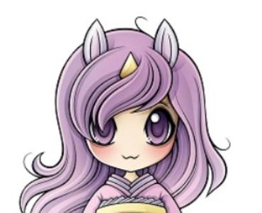 Das Maskottchen des diesjährigen Manga-Tags. Die Besucher haben am 4. November die Möglichkeit, Namensvorschläge für das Einhornmädchen einzureichen.
