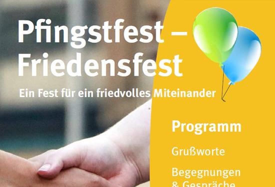 Plakat Pfingstfest Friedensfest
