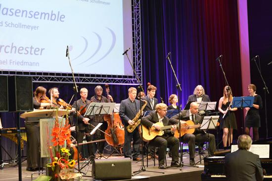 Das Salonorchester beim Musikschuljubiläum 2015 im Ruhrfestspielhaus.
