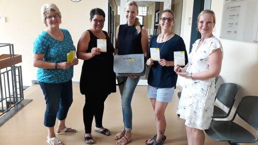 Pressefoto -  Kerstin Waaga, Sabrina Löhrhoff, Sonja Pacholek und Sandra Flottmann unterstützen ab sofort die Regionalbeauftragte Kerstin Venn.