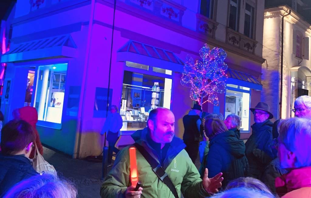Beliebt waren auch in diesem Jahr wieder die Führungen im Rahmen von RE leuchtet, die Arno Straßmann und die Gilde der Stadtführer anboten. Foto Stadt RE
