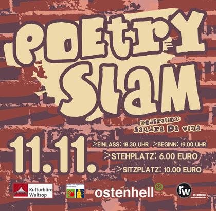 "Auf dem Bild: Veranstaltungsplakat ""Poetry Slam"" (Derivat)"