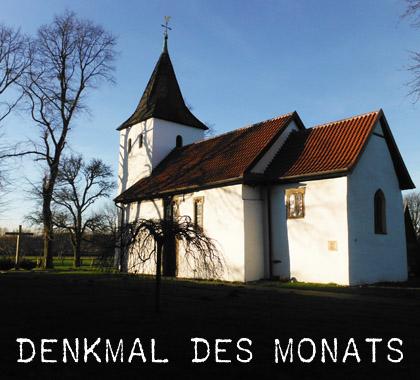 Bild: St-Laurentiuskapelle im Sonnenuntergang (Foto: E. Strauch, Stadt Waltrop)