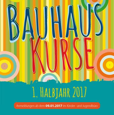 Auf dem Bild: Bauhauskurs-Programmheft (Ausschnitt vom Deckblatt)