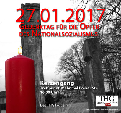 Bild: THG Waltrop – Gedenktag für die Opfer des Nationalsozialismus 2017, © Philipp Happ, Lukas Kusemann (Derivat)