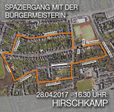 Luftbild der Hirschkampsiedlung