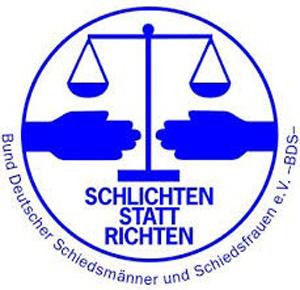 Auf dem Bild: Logo des Bundes deutscher Schiedsmänner und Schiedsfrauen e.V.