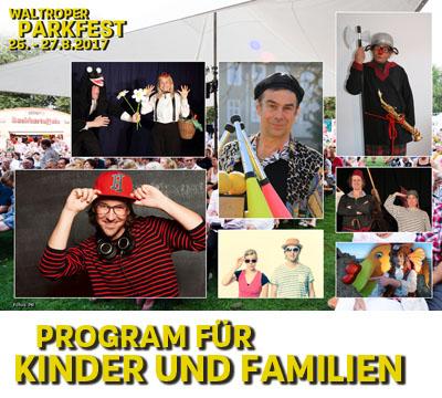 Auf dem Bild: Fotocollage Parkfest-Familienprogramm 2017, Fotos: PR
