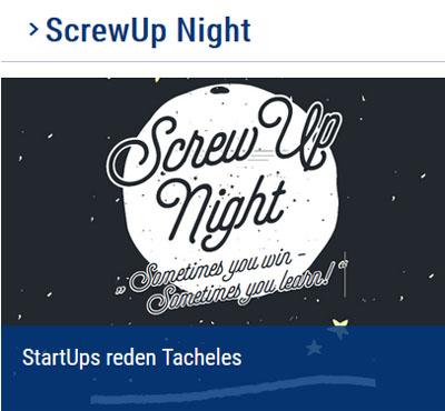 Bild: Ankündigung Screw Up Night, Foto: Kreisverwaltung Recklinghausen