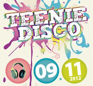 """Ausschnitt des Veranstaltungsplakats """"Teenie Disco"""""""
