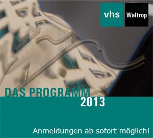 VHS-Programm 2013 - Deckblatt (Ausschnitt)