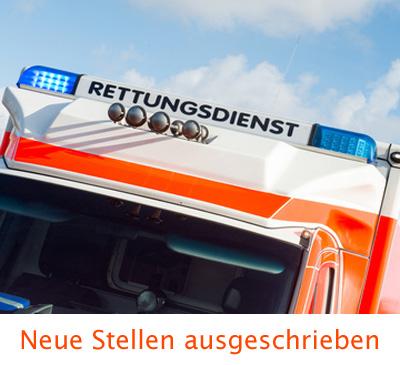 Auf dem Bild: Rettungswagen mit Aufschrift Rettungsdienst