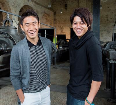 Auf dem Bild: Shinji Kagawa und Atsuto Uchida (v.i.); (c) Borussia Dortmund