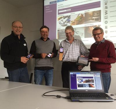 v.l. Burkhard Tiessen, Thomas Paschek, Uwe Seidenberg, Peter Schulz