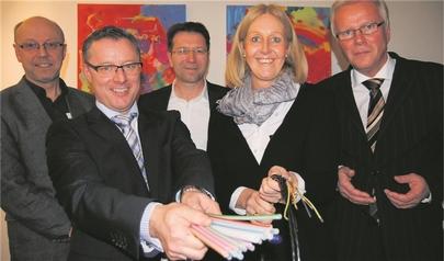 v.l.: Burkhard Tiessen, Frank Neiling, Andreas Scheiba, Nicole Moenikes, Volker Dürholz