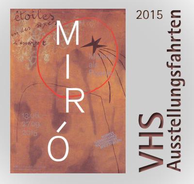 VHS Ausstellungsfahrten 2015 - auf dem Bild: ein Miró