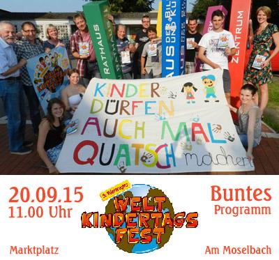 Auf dem Bild (Foto: Pospiech): Organisationsteam des Waltroper Weltkindertags