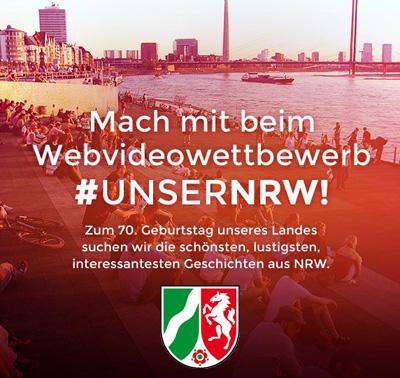 Auf dem Bild: Fotowettbewerb #unserNRW (Motiv: Düsseldorfer Rheinterrassen; Foto: LandStaatskanzlei des Landes Nordrhein-Westfalen, Referat LPA I 3