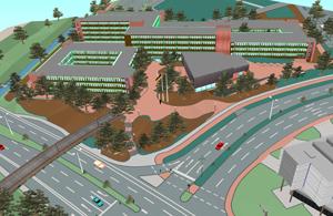 3D-Modell des Kreishauses