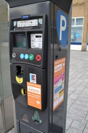 Parkautomat auf dem Castroper Marktplatz