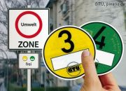 Gelbe und grüne Umweltplakette, Foto: GTÜ, pixelio.de