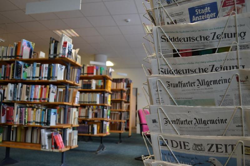 Blick in die Stadtbibliothek Castrop-Rauxel