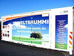 Das Bild zeigt den Umweltbrummi der Kommunalen Servicebetriebe der Stadt Recklinghausen.