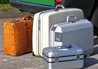 Bild gepackte Koffer
