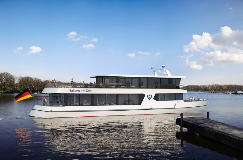 Fahrgastschiff Möwe am Anleger Südufer