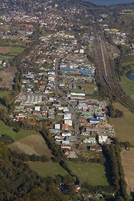 Schrägaufnahme des Gewerbeparks Mersch (Luftbild Copyright H. Blossey, 2009)
