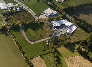 Schrägaufnahme des Gewerbeparks Brinkwiese (Luftbild Copyright H. Blossey, 2009)