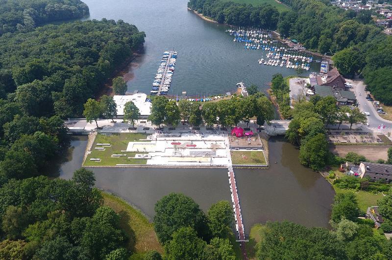 Luftaufnahme der Stadtmühlenbucht, Bild Guido Bludau