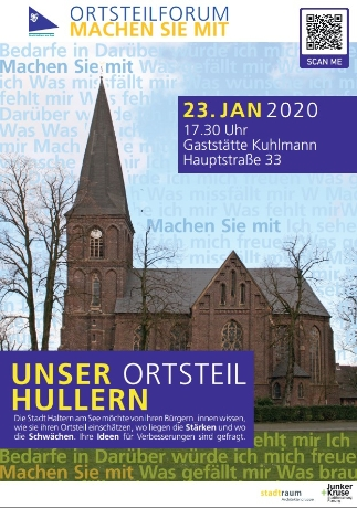 Plakat mit Kirche Hullern