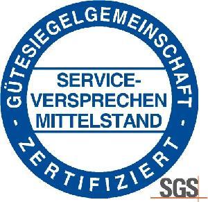 Logo der Gütesiegelgemeinschaft Serviceversprechen Mittelstand