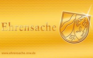 Auf dem Bild: Ehrenamtskarte, Vorderseite. Schrift im Bild: Informationen zur Ehrenamtskarte. Foto: Landesregierung Nordrhein-Westfalen