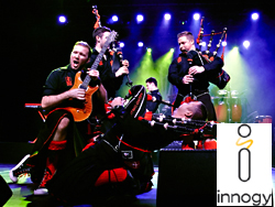 Das Bild zeigt die Band Red Hot Chilli Pipers.