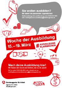 Das Bild zeigt das Plakat zur Woche der Ausbildung