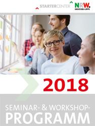 Das Foto zeigt das Titelbild des Seminarprogramms des Startercenters.