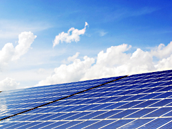 Das Bild zeigt eine Photovoltaic-Anlage.