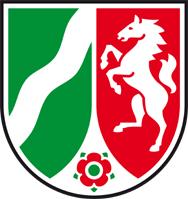 Das Bild zeigt das Wappen von NRW.